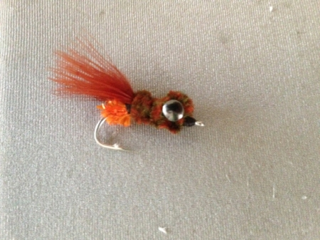 Mike Centofani Crab fly that Steve used to get most fish!