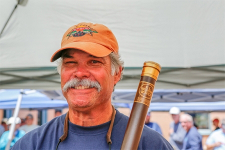 Mike Centofani wins Shanes Winston bamboo rod. Photo by Jorge Salas.