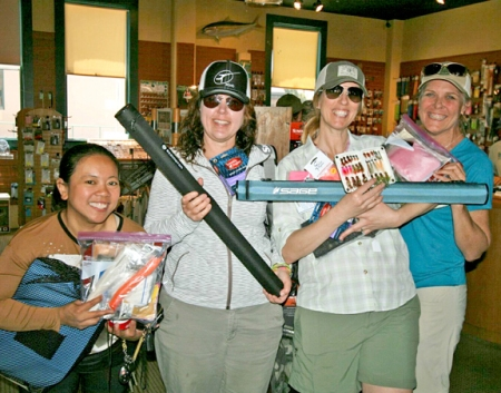 the Pasadena fly girls winning some great prizes. photo by Michael Schweit